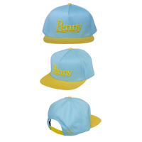 PENNY SNAPBACK CAP - YELLOW AND BLUE