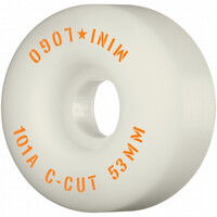 POWELL SKATEBOARD WHEELS - MINI LOGO WHITE - 53MM