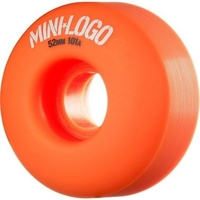 POWELL SKATEBOARD WHEELS - MINI LOGO ORANGE - 52MM