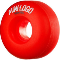 POWELL SKATEBOARD WHEELS - MINI LOGO RED - 53MM