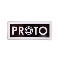 PROTO SCOOTER STICKER BLACK WHITE LOGO
