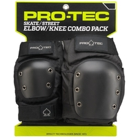 PROTEC STREET PROTECTIVE PAD SET - KNEE AND ELBOW - SIZE MEDIUM