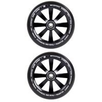 REVOLUTION - 120MM TWIN CORE SCOOTER WHEELS SET OF 2 WITH BEARINGS - BLACK