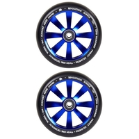 REVOLUTION - 120MM TWIN CORE SCOOTER WHEELS SET OF 2 WITH BEARINGS - BLUE
