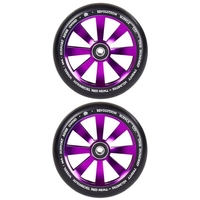 REVOLUTION - 120MM TWIN CORE SCOOTER WHEELS SET OF 2 WITH BEARINGS - PURPLE
