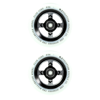 REVOLUTION - 110MM FLOW CORE SCOOTER WHEELS SET OF 2 WITH BEARINGS - WHITE BLACK