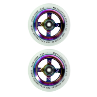 REVOLUTION - 110MM FLOW CORE SCOOTER WHEELS SET OF 2 WITH BEARINGS - WHITE NEOCHROME