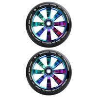 REVOLUTION - 120MM TWIN CORE SCOOTER WHEELS SET OF 2 WITH BEARINGS - NEOCHROME