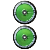 ROOT INDUSTRIES AIR 110MM WHEEL SET - BLACK PU GREEN CORE
