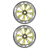 ROOT INDUSTRIES TURBINE 110MM WHEEL SET - BLACK PU GOLD CARBON
