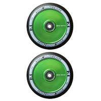 ROOT INDUSTRIES AIR 120MM WHEEL SET - BLACK PU GREEN CORE