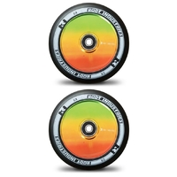 ROOT INDUSTRIES AIR 120MM WHEEL SET - BLACK PU RASTA CORE