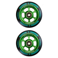 ROGUE 110MM SCOOTER WHEELS SET OF 2 - GUMMY BLACK/AQUA