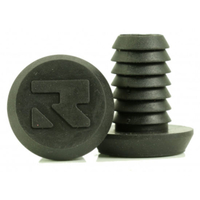 ROOT INDUSTRIES ALLOY BAR ENDS PLUGS - SOLD AS PAIRS - SMALL BLACK