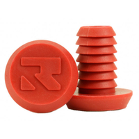 ROOT INDUSTRIES BAR ENDS PLUGS - SOLD AS PAIRS - SMALL RED