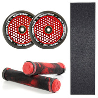 ROOT INDUSTRIES 110MM HONEYCORE RED WHEELS + GRIPS + GRIP TAPE COMBO PACK