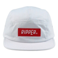 RIPPER CO 5 PANEL HAT - WHITE- ADJUSTABLE