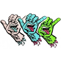SANTA CRUZ SHAKA STICKER 3 PACK