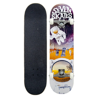 "SEVEN COMPLETE SKATEBOARDS 8.25"" - SPACE MAN"