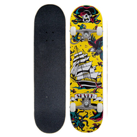 "SEVEN COMPLETE SKATEBOARD 7.8"" - TATTOO FLASH YELLOW"