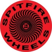 SPITFIRE SKATEBOARD STICKER - CLASSIC SWIRL BLACK RED X 1