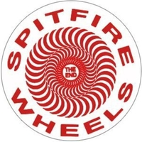 SPITFIRE SKATEBOARD STICKER - CLASSIC SWIRL WHITE RED X 1