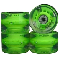 SUNSET SKATEBOARD WHEELS - LONGBOARD FLARE GREEN - 65MM - 78A