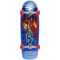 SANTA CRUZ DROP DOWN CRUZER SKATEBOARD - LEGEND QUEST 32.3""