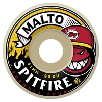 SPITFIRE SKATEBOARD WHEELS - F4 HOTBOX MALTO - 51MM - 99D