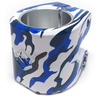 STRIKER SCOOTER DOUBLE CLAMP - ESSENCE - BLUE CAMO - OVERSIZED AND STANDARD