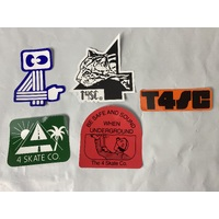 THE 4 SKATEBOARD CO - STRIPED STICKER