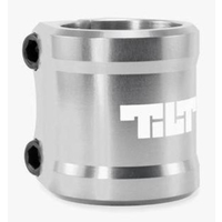 TILT ARC DOUBLE CLAMP - SILVER