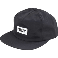 TILT EXPLORER - RELAXED SNAPBACK HAT BLACK - ADJUSTABLE