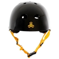 TRIPLE 8 BRAINSAVER HELMET - BLACK YELLOW - SIZE XS - SKATE SCOOTER