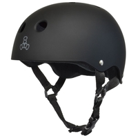 TRIPLE 8 BRAINSAVER SS HELMET - BLACK RUBBER - SIZE LARGE - SKATE SCOOTER