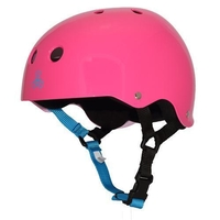 TRIPLE 8 BRAINSAVER SS HELMET - FUSCHIA GLOSS  - SIZE MEDIUM - SKATE SCOOTER