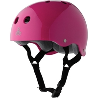 TRIPLE 8 BRAINSAVER SS HELMET - PINK GLOSS  GREY PADDING - SIZE SMALL - SKATE SCOOTER