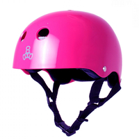 TRIPLE 8 BRAINSAVER SS HELMET - PINK GLOSS BLACK PADDING  - SIZE SMALL - SKATE SCOOTER