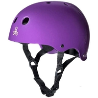 TRIPLE 8 BRAINSAVER SS HELMET - PURPLE RUBBER  - SIZE LARGE - SKATE SCOOTER