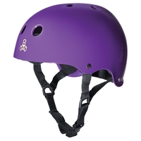 TRIPLE 8 BRAINSAVER SS HELMET - PURPLE GLOSS - SIZE XL - SKATE SCOOTER