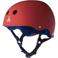 TRIPLE 8 BRAINSAVER SS HELMET - RED RUBBER - SIZE XL - SKATE SCOOTER