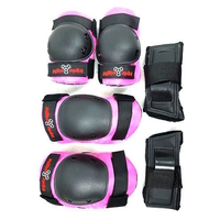 TRIPLE 8 TRI PACK PAD SET - PINK - JUNIOR SIZE