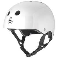 TRIPLE 8 BRAINSAVER HELMET - WHITE - SIZE LARGE - SKATE SCOOTER