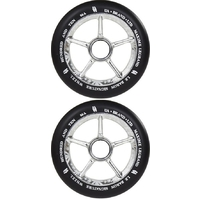 URBAN ARTT MAXIME 110MM SCOOTER WHEEL SET - BLACK SILVER