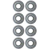 VXB SKATEBOARD BEARINGS SET OF 8 -  PREMIUM OIL