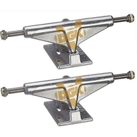 "VENTURE SKATEBOARD TRUCKS 5.25"" MID DGK SILVER GOLD SET OF 2 TRUCKS"