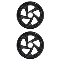 WISE TUNDRED 110MM SCOOTER WHEELS SET OF 2 - BLACK
