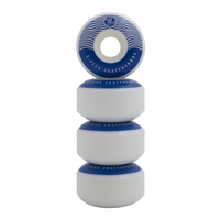 Z-FLEX WAVE BLUE SKATEBOARD WHEELS - MADE IN USA - 52MM