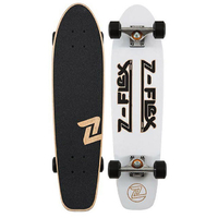 "Z-FLEX COMPLETE SKATEBOARD - Z-BAR CRUISER 29"" - WHITE BLACK"
