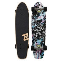 "Z-FLEX COMPLETE SKATEBOARD - CRUISER 29"" - ACID BLACK"